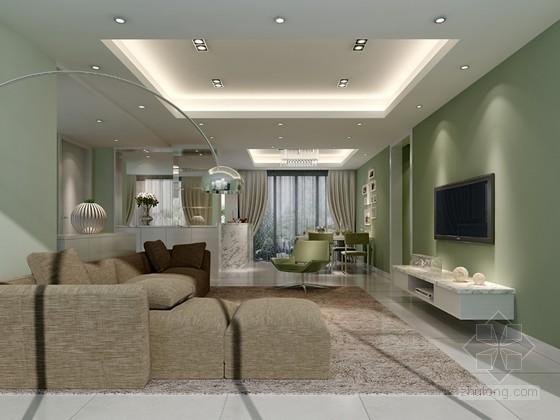清新客厅3D模型下载