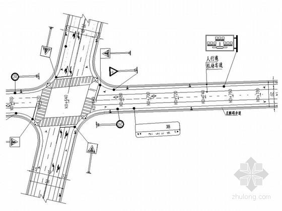 [湖南]市政道路工程全套施工图设计125张(交通 排水 景观 照明)