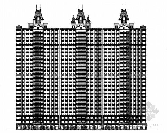 [南京]某欧式风格26层住宅楼建筑施工图