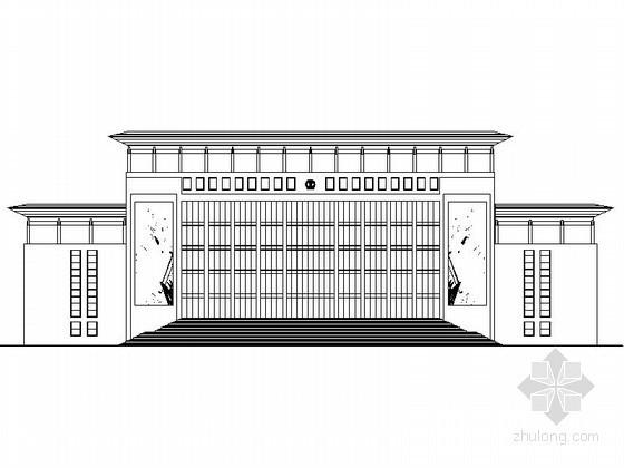 某市法院办公楼建筑施工图