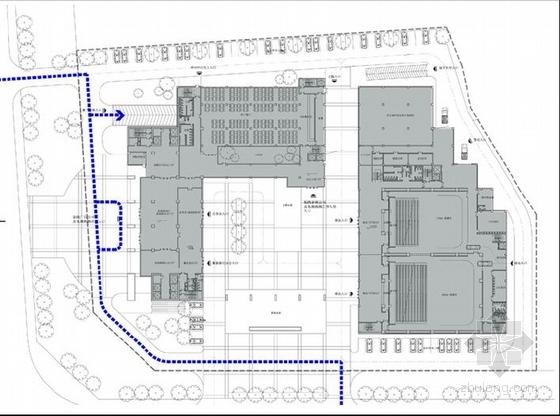 [合肥]大跨度空间广告及电视购物办公综合体建筑设计方案文本(含CAD)-图7