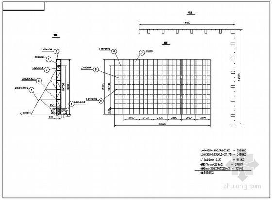 某立柱广告牌结构设计图