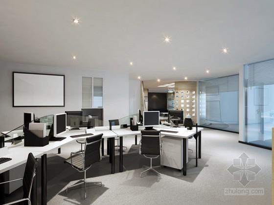 现代时尚办公室效果图3D模型