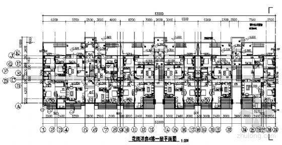 东部花园洋房4栋住宅楼建筑施工图-2