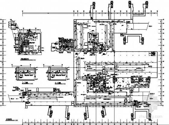 地下汽车库通风兼防排烟平面图