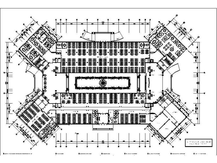 [南京]某知名旅游公司办公楼室内设计施工图(含效果图)