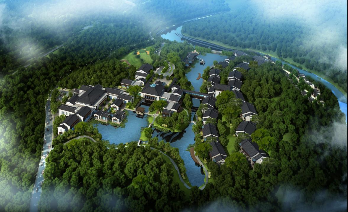 [方案][河南]新中式风格度假酒店建筑设计方案文本图片