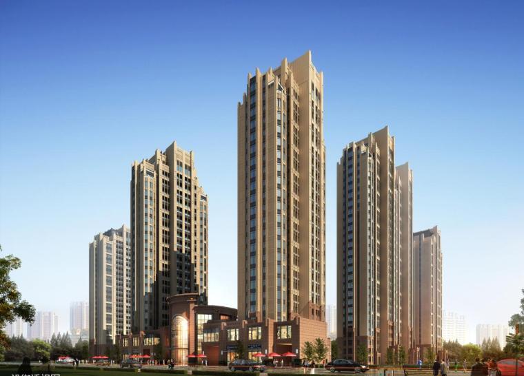 [山西]高层简欧风格柱列形式住宅楼建筑设计方案文本