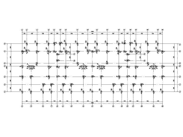 四层异形柱框架结构住宅结构施工图