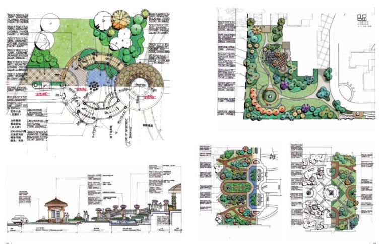 手绘景观方案与细部设计(中文版+PDF+161页)-中山中信左岸花园3
