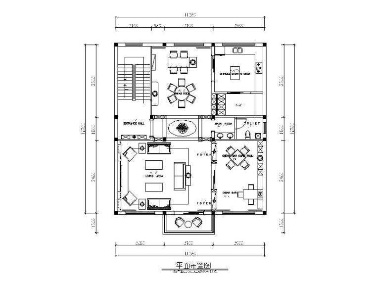 后现代-样板房设计CAD施工图(含效果图)