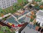 公园精细模型SU模型