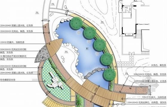 [扬州]清新自然花园小区景观扩初设计方案(风格清新)-设计详图