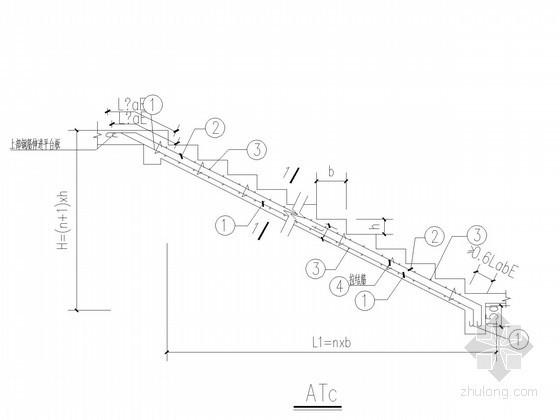 常用板式楼梯简图及节点详图