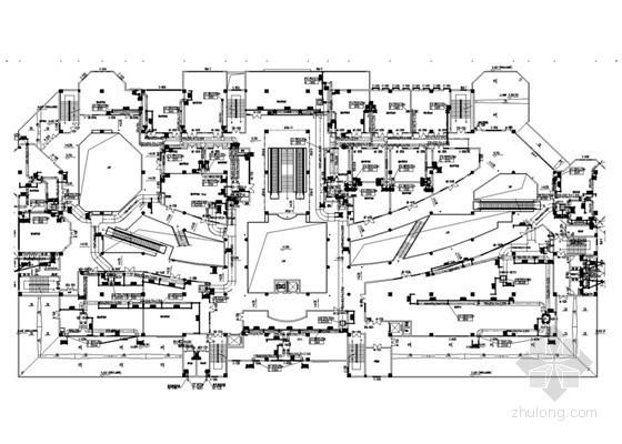 [课程设计]四层商业楼暖通空调及防排烟系统图纸