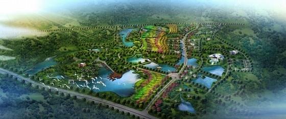 [江苏]山清水秀休闲旅游区景观总体规划设计方案(知名设计院)-鸟瞰图