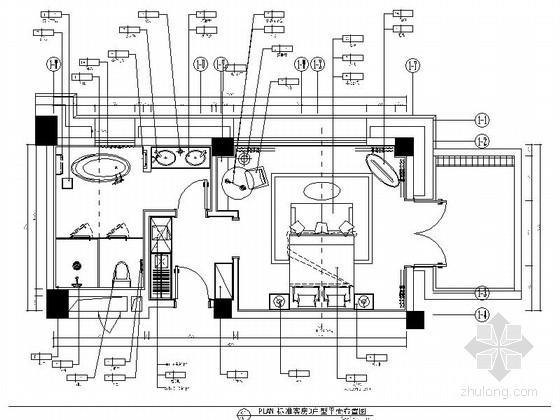 [西藏]原木清新酒店双人客房CAD施工图(含效果图)