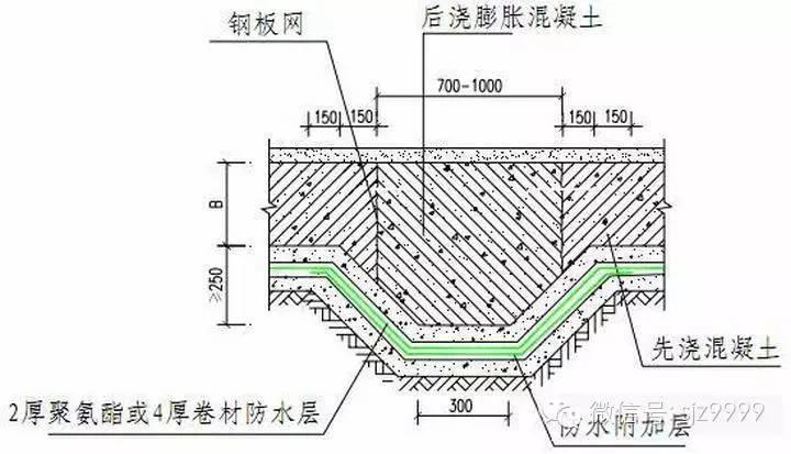 地下混凝土结构防水细部构造