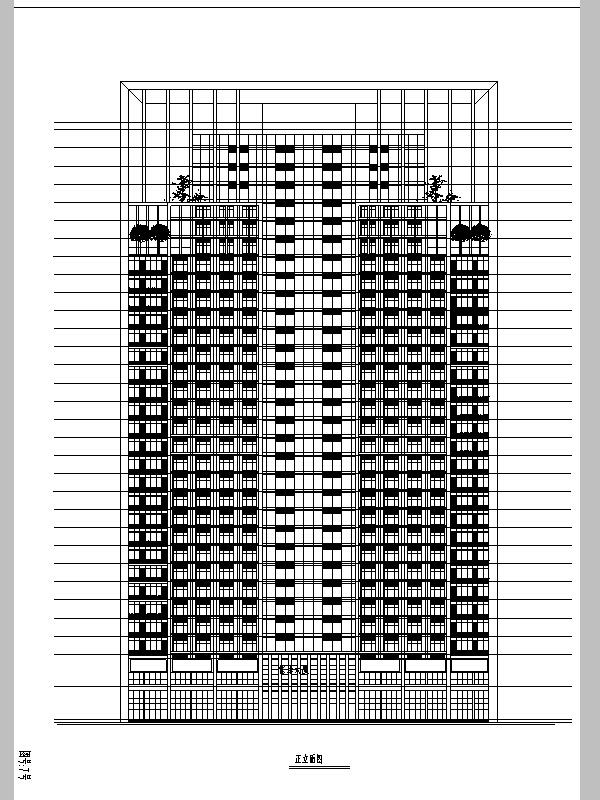 重庆佳乐现代高层商办综合大厦建筑设计方案施工图CAD