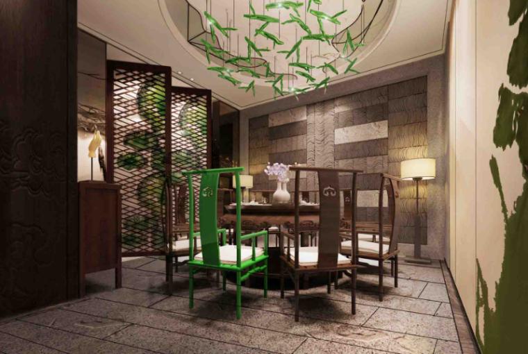 [广东]荷不语私人餐厅室内设计方案