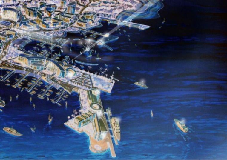 抚州市城市新区中心区控制性详细规划设计方案-01滨水活动区夜景