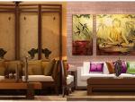 5套东南亚风格客厅|3D模型