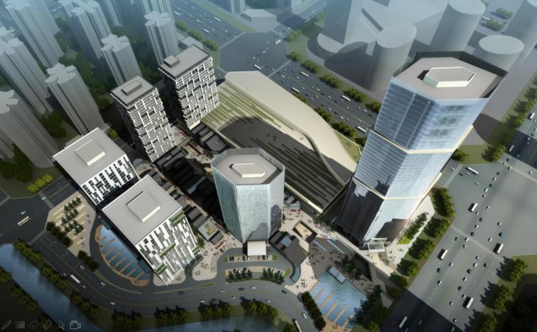 [四川]成都现代风格城市综合体设计方案文本(PDF)