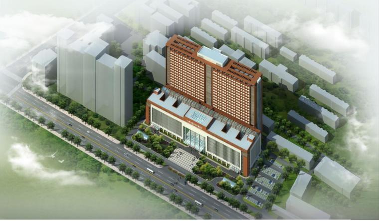 [内蒙古]高层现代风格学院附属医院门诊楼建筑设计方案文本