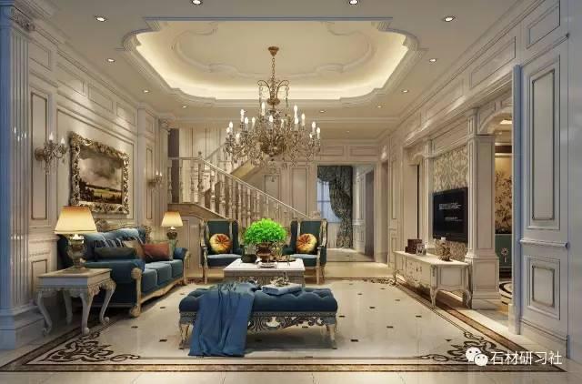 欧式装饰客厅资料下载-欧式客厅大理石装饰设计效果图