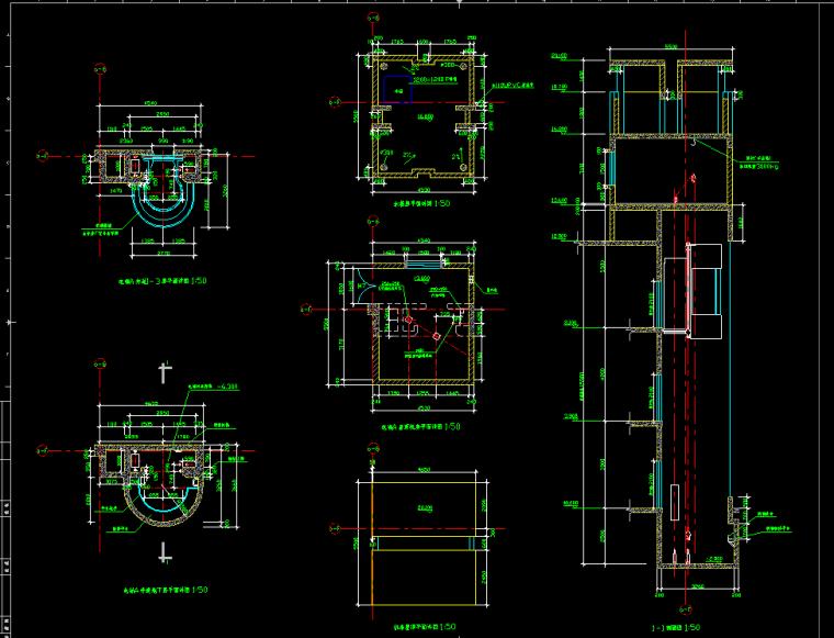电梯、楼梯、货梯节点大样图纸分享_5