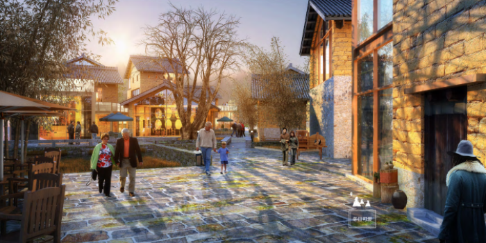 [广西]桂林风情古镇老街乡村景观设计方案(赠项目lumion动画)-效果图12