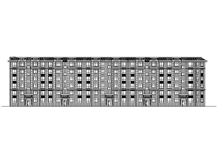 [宁夏]多层简欧式风格联排住宅楼施工图