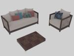 朴实舒服沙发3D模型下载