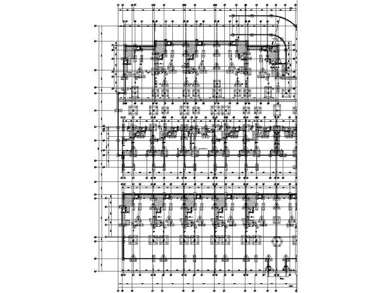 [浙江]24栋地上二层框架结构住宅楼结构施工图