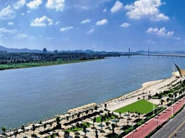 [湖南]2016年设计江岸风光带景观提质工程施工图设计82张CAD(含给排水电气绿化园建)