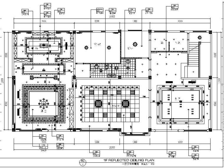 [西安]新中式综合性办公楼设计施工图(含效果图)