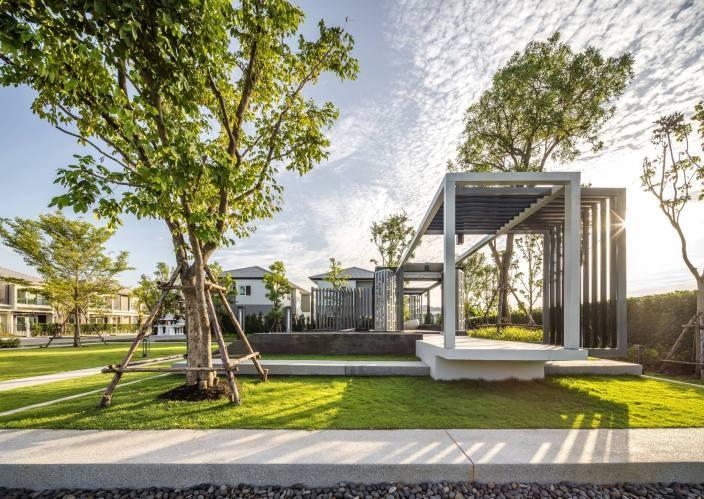 泰国以滨海码头为灵感的别墅住宅景观