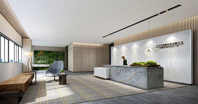 前厅-东莞天宇华瑞新办公室装修案例-效果图第1张图片