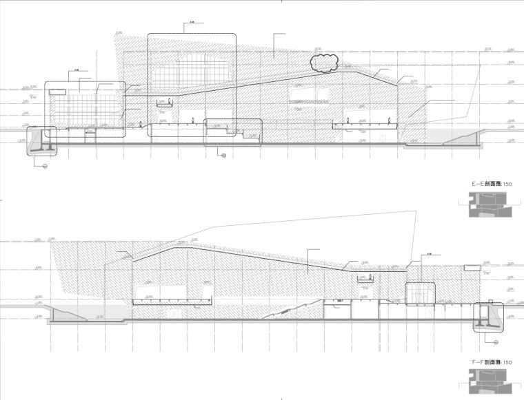 同济院全套安徽古生物博物馆施工图(含室外总体)