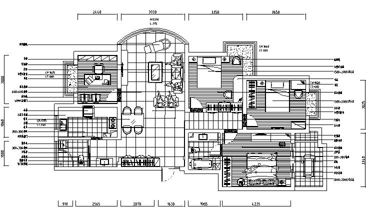 超现代风格三室二厅装修图(内附效果图)