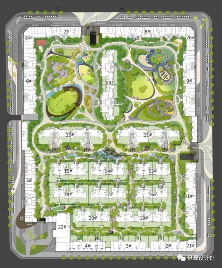 成都九里晴川大区新中式风格景观设计