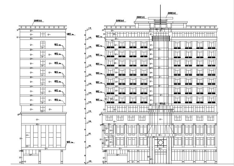 3套现代宾馆酒店建筑设计施工图CAD_1