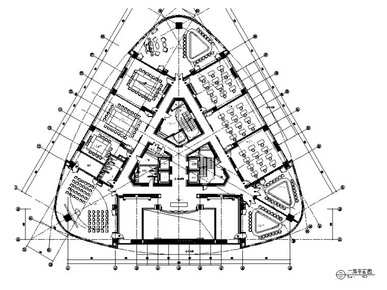 [上海]知名商区写字办公楼设计施工图(含效果图)