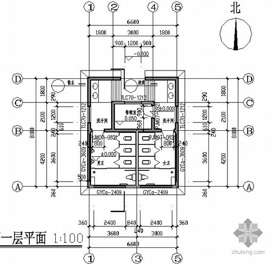 [合集]20套建筑小品——公厕建筑施工图及方案文本_6