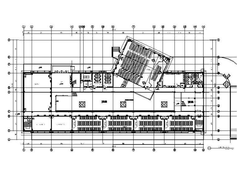 [常州]某现代简约大型训练基地室内设计施工图