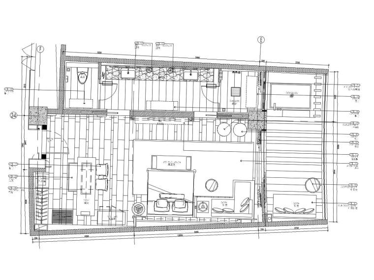 三亚洲际酒店样板房六套装修方案施工图(附效果图)
