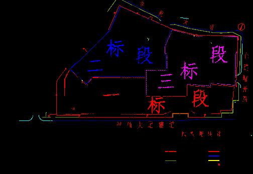 整体式全钢爬架施工方案(提升高度146.65m)-施工平面图