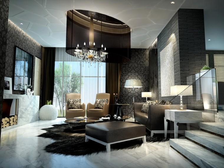 [苏州]别墅室内装修三套不同风格概念设计方案(附效果图)