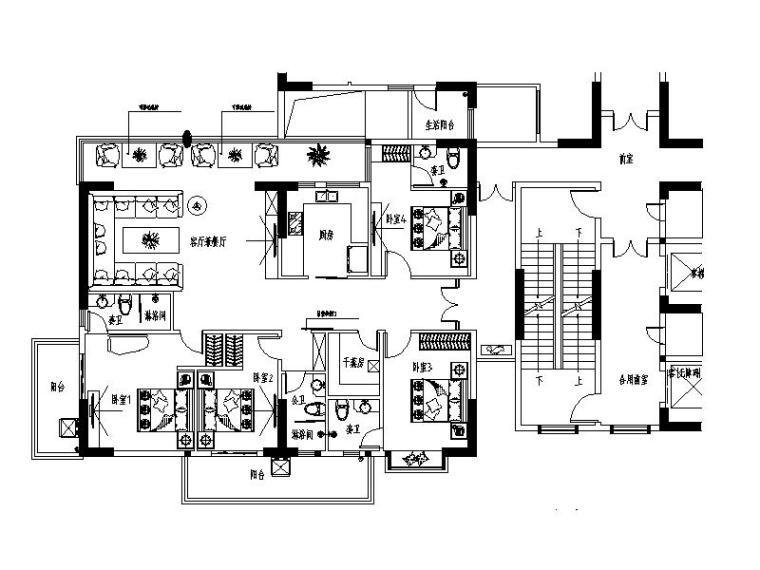公寓住宅设计平面图_2