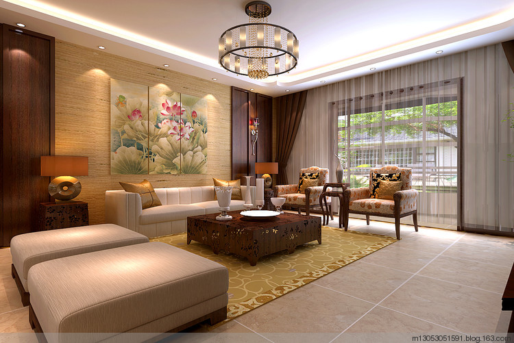 建筑面积:160平米 装修风格:新中式